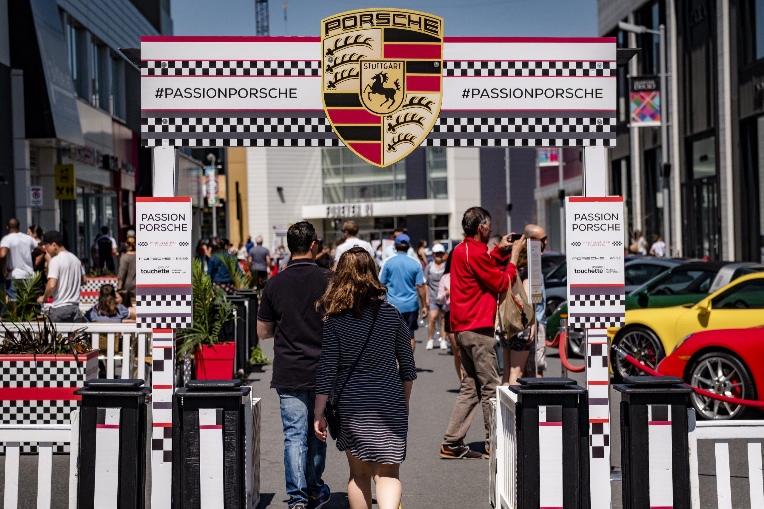 Porsche exposition.